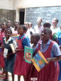 Malawian students singing